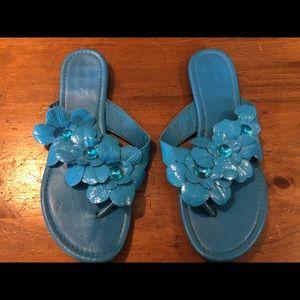 Shoes - 😍 Blue flower sandals